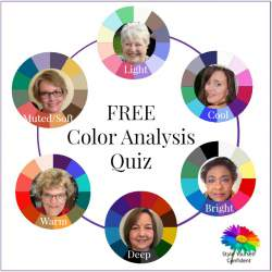 Free Color Analysis Quiz - Discover your Tonal Color Family and a palette of color shades to flatter your natural coloring.  http://www.style-yourself-confident.com/free-color-analysis.html