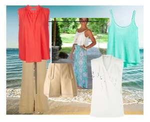Holiday wardrobe - Spring colors #packing for holiday http://www.style-yourself-confident.com/holiday-wardrobe.html