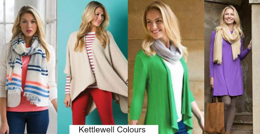 Kettlewell Colors for Spring color analysis http://www.style-yourself-confident.com/seasonal-color-analysis-spring.html