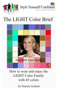 Light Color Brief - How to wear and enjoy the Light color family with 45 colors #color analysis books #Light color family  https://www.style-yourself-confident.com/books-and-ebooks.html
