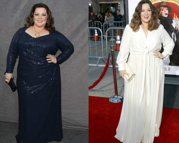 Melissa McCarthy is an Apple shape #appleshape #applebodyshape https://www.style-yourself-confident.com/dress-an-apple-shape.html
