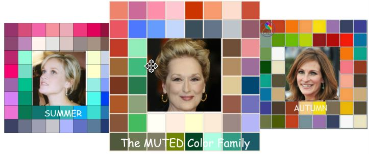 The MUTED color family #color analysis #Muted color family http://www.style-yourself-confident.com/color-analysis-muted.html