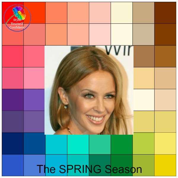 The SPRING Season #springcolors https://www.style-yourself-confident.com/seasonal-color-analysis-spring.html