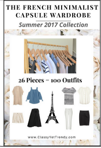 French Minimalist Capsule Wardrobe Plan Summer 2017 #capsulewardrobe #Frenchwardrobeplan #Summeroutfits 2017  https://transactions.sendowl.com/stores/7059/29996