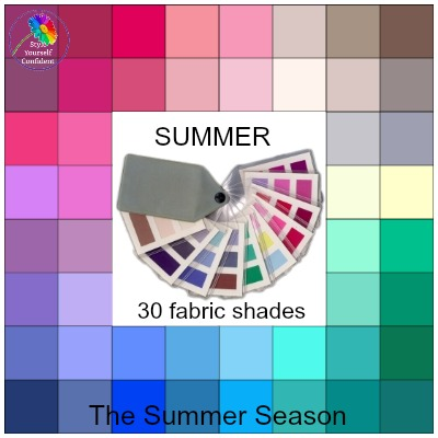 Summer colors - the prettiest season  http://www.style-yourself-confident.com/seasonal-color-analysis-summer.html