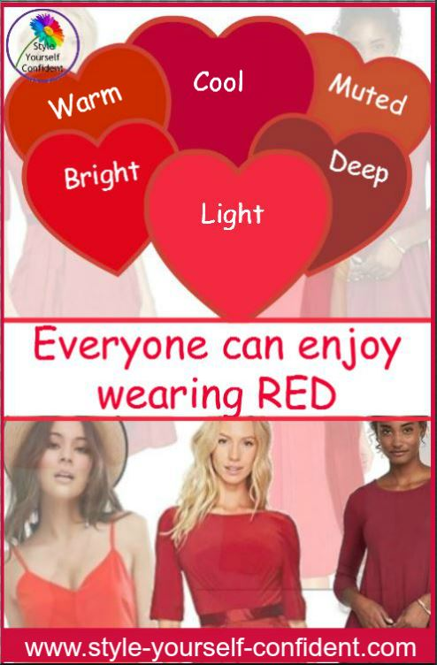 Everyone can wear RED whatever your coloring. It also influences your choice #wear red  https://www.style-yourself-confident.com/you-can-wear-red.html