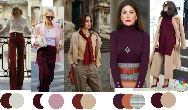 30 ways to wear Burgundy #wearburgundy https://www.style-yourself-confident.com/how-to-wear-burgundy.html