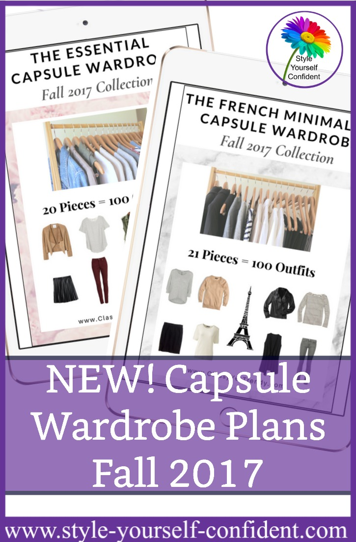 Digital Capsule Wardrobe plans Fall 2017 http://www.style-yourself-confident.com/books-and-ebooks.html