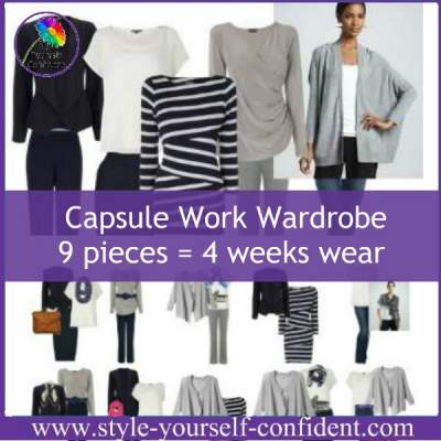 Capsule work wardrobe #capsulewardrobe https://www.style-yourself-confident.com/capsule-work-wardrobe.html