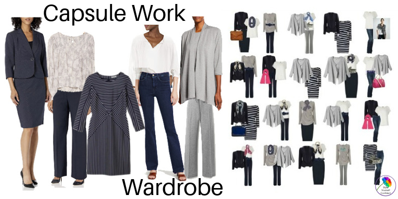 Capsule Work Wardrobe - 9 garments = 1 months effortless dressing! #capsuleworkwardrobe https://www.style-yourself-confident.com/capsule-work-wardrobe.html