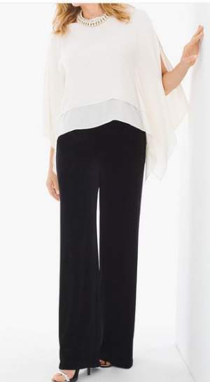 Wide leg pants for an elegant cover-up #wide leg pants #Chico's https://www.style-yourself-confident.com/wide-leg-pants.html