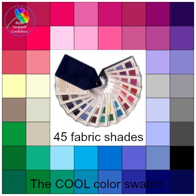 Cool tonal coloring #Cool color family  #color analysis swatch  http://www.style-yourself-confident.com/cool-tonal-coloring.html