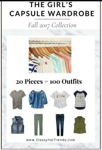 Girls capsule wardrobe plan Fall 2017 - 20 items 100 outfits https://transactions.sendowl.com/stores/7059/29996