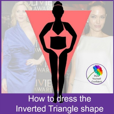 Flatter an inverted triangle figure #invertedtriangle https://www.style-yourself-confident.com/inverted-triangle-body-shape.html