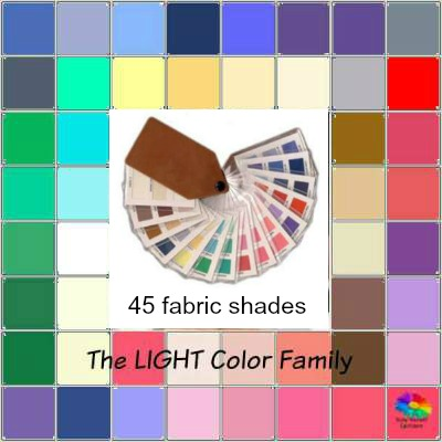 Color Analysis Light swatch    http://www.style-yourself-confident.com/testimonials.html