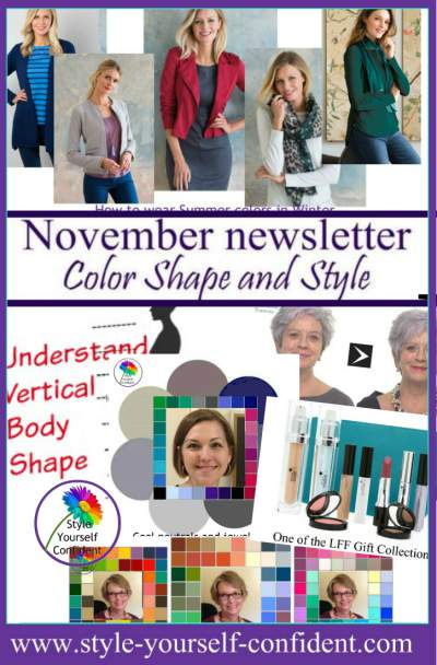 Style Yourself Confident - Online Color Analysis, Shape and Style http://www.style-yourself-confident.com