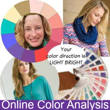 Online Color Analysis #coloranalysis https://www.style-yourself-confident.com/online-color-analysis.html