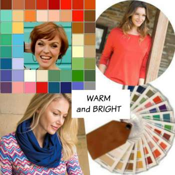 Online Color Analysis creates color palettes that flatter your natural coloring. A whole palette of colors that blend and harmonize for co-ordination or capsules.