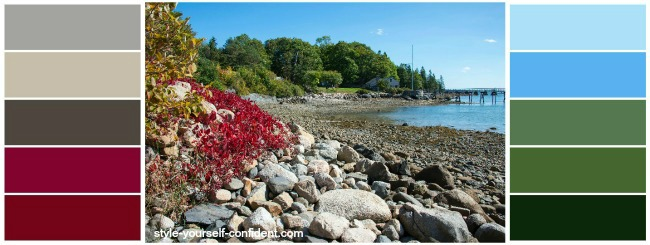 Bar Harbor, Maine, USA - Color Analysis in Nature  #color analysis #color analysis in nature #color palettes http://www.style-yourself-confident.com/color-analysis-in-nature.html