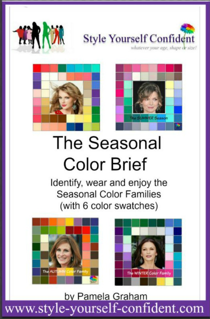 Seasonal Color Analysis - The Brief - How to wear and enjoy the SEASONAL colors  http://www.style-yourself-confident.com/books-and-ebooks.html