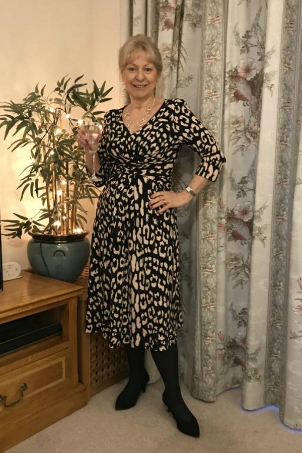 My Christmas dress #christmasdress #romanoriginals #animalprintdress https://www.style-yourself-confident.com/my-christmas-dress.html