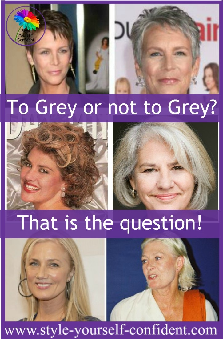 Going grey - To grey or not to grey?  http://www.style-yourself-confident.com/going-grey.html