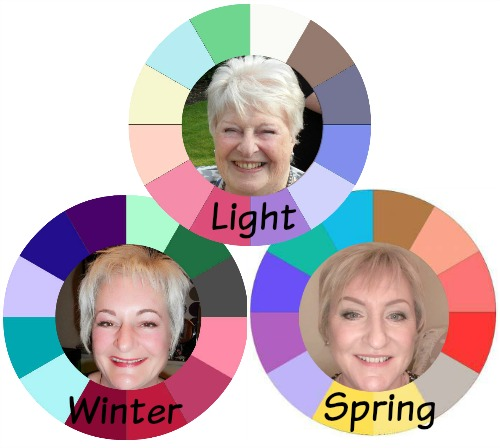 A trio of Color Analysis ladies #personal color analysis  http://www.style-yourself-confident.com/your-style-037.html