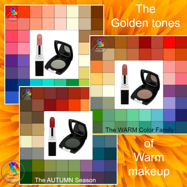 Warm makeup for a Warm complexion #warmmakeup #coloranalysis #lookfabulousforever  https://www.style-yourself-confident.com/warm-makeup.html