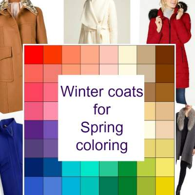 Winter coats for Spring coloring #spring color family #winter coats #color analysis  http://www.style-yourself-confident.com/winter-coats-for-spring-coloring.html