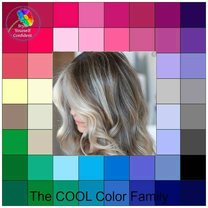COOL.  The 'new' mushroom brown hair for Cool coloring #Cool #mushroombrown #color analysis https://www.style-yourself-confident.com/color-analysis-cool.html