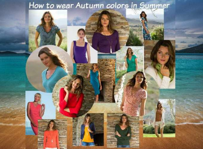 How to wear Autumn colors in Summer  #Autumn colors in Summer  https://www.style-yourself-confident.com/autumn-colors-in-summer.html