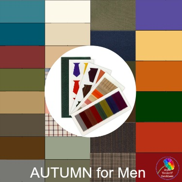 Seasonal Color Analysis swatch for men - #color analysis #fabric swatch #colorformen https://www.style-yourself-confident.com/color-analysis-swatch.html