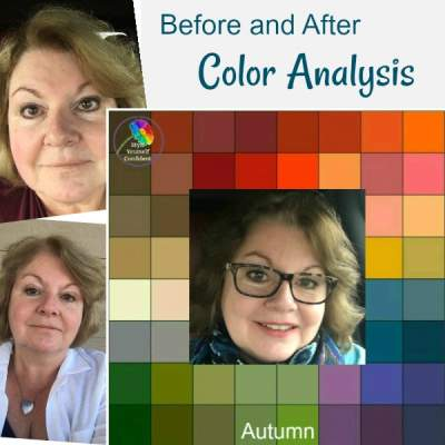 Before and after Color Analysis - testimonials, reviews and photographs https://www.style-yourself-confident.com/before-and-after-color-analysis.html