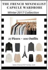 The French Minimalist Capsule Wardrobe for Winter 2017 #capsule wardrobe #French capsule wardrobe https://transactions.sendowl.com/stores/6194/29996