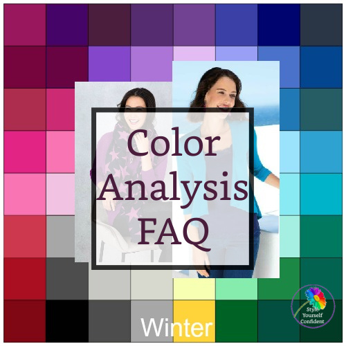 Color Analysis FAQ #coloranalysisfaq #coloranalysisquestions https://www.style-yourself-confident.com/color-analysis-faq.html