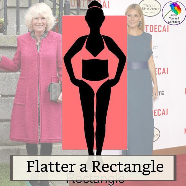 Rectangle Body Shape #rectanglebody #rectangularbody #bodyshape  https://www.style-yourself-confident.com/rectangle-body-shape.html