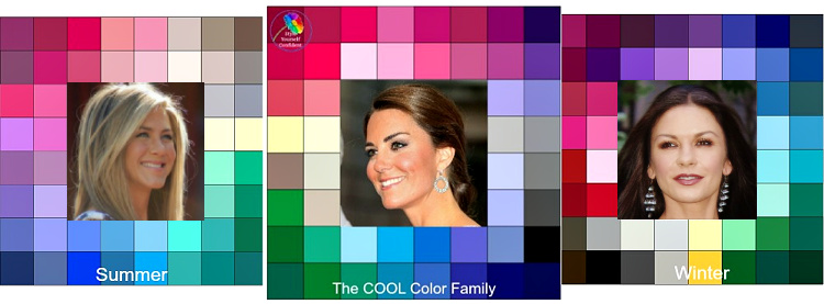 Color analysis COOL - #Coolcolors #coolcoloranalysis https://www.style-yourself-confident.com/color-analysis-cool.html