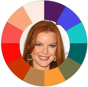 Warm natural coloring #warm coloring #warm makeup #warm skin tone #Marcia Cross https://www.style-yourself-confident.com/warm-skin-tone.html