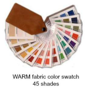 Warm fabric color swatch - 45 shades  #Warm color family #Warm fabric color swatch  http://www.style-yourself-confident.com/color-analysis-warm.html