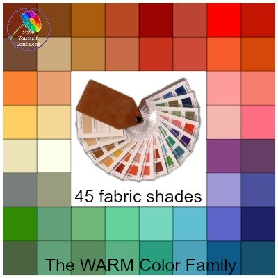 Color Analysis fabric swatch - Tonal and Seasonal #color analysis #fabric swatch https://www.style-yourself-confident.com/color-analysis-swatch.html