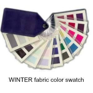 Winter color swatch. Winter is always Cool, always Deep and always Bright #cool winter #winter coloring https://www.style-yourself-confident.com/color-analysis-swatch.html