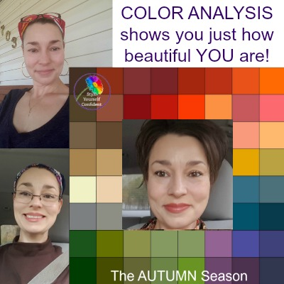 Before and after Color Analysis - testimonials, reviews and photographs #coloranalysis #onlinecoloranalysis https://www.style-yourself-confident.com/before-and-after-color-analysis.html