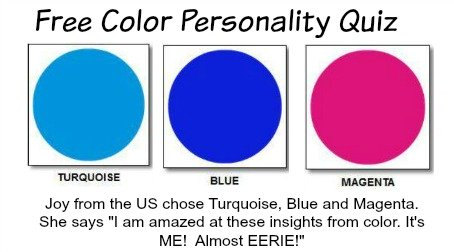 Free Color Personality Quiz  #colorpersonality #stylemakeover https://www.style-yourself-confident.com/free-color-personality-quiz.html