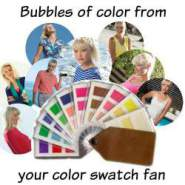 Bubbles of color from your color swatch