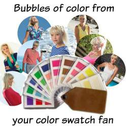Bubbles of colors from Kettlewell Colours and your color swatch #Kettlewell Colours #color swatch http://www.style-yourself-confident.com/fashion-trends.html