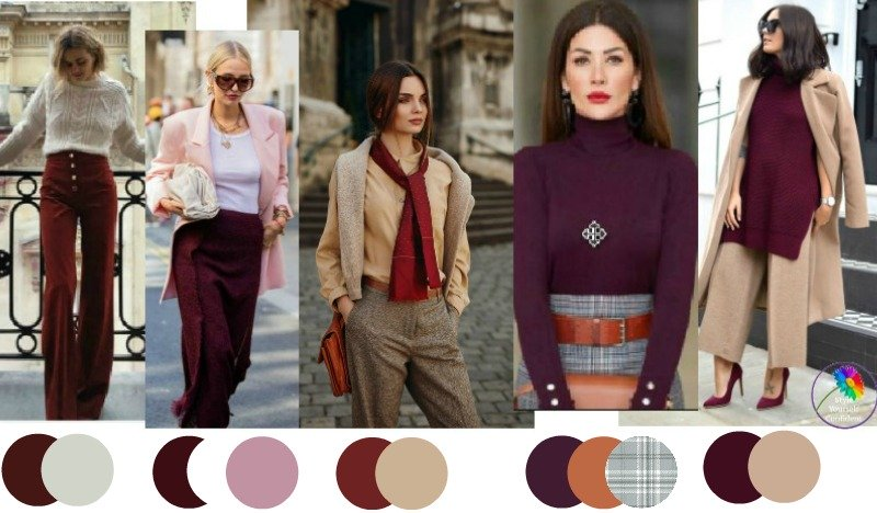30 ways to wear Burgundy #wearburgundy https://www.style-yourself-confident.com/how-to-wear-burgundy.html
