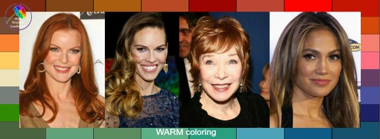 Warm tonal coloring #warmcolors #warmskin  #coloranalysis https://www.style-yourself-confident.com/warm-tonal-coloring.html