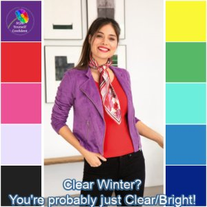Winter is always Clear always Deep and always Cool. #clear winter #winter coloring #winter season https://www.style-yourself-confident.com/clear-winter.html