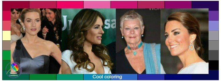 Cool tonal coloring #coolcolors #coolskin #coloranalysis https://www.style-yourself-confident.com/cool-tonal-coloring.html
