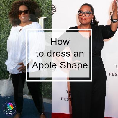 Oprah Winfrey is an Apple shape #appleshape #applebodyshape https://www.style-yourself-confident.com/dress-an-apple-shape.html
